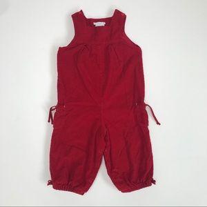 Jacadi Paris red corduroy overalls size 23 month
